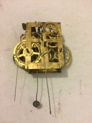 Antique Ansonia Brass Co. Sharp Gothic Steeple Clock Movement 30 Hour