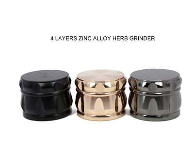 2.5inch 4 layer Zinc alloy Grinder Herb Mill Crusher Tobacco Crusher New 2018