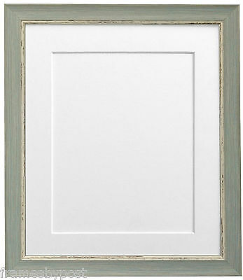 Nordic Blue Picture Photo Frames with White Black Ivory Blue Pink & Grey Mounts