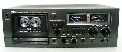 Akai Gxc-750D Top End Vintage Stereo Cassette Deck Player