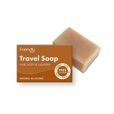 Friendly Soap Natural Hair and Body Bar Travel Soap 95g
