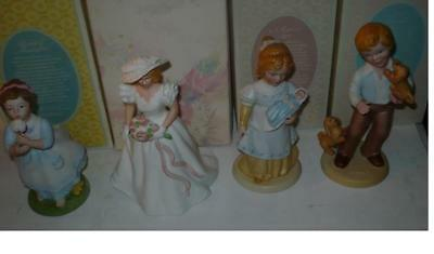 4 Different Avon P0Rcelain Figurines