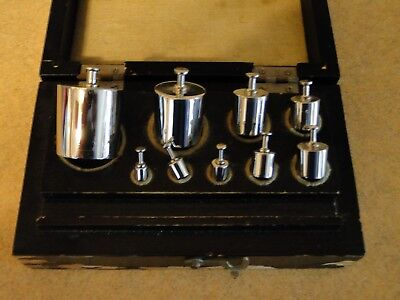 Chicago Apparatus Co. Scale Weights Christian Becker Original Box 100 G to 1 G