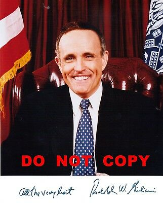 "Rudolph Giuliani Autographed Photo & Letter on ""Office Of The Mayor"" Letterhead"
