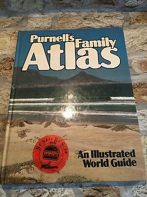 Purnell's Family Atlas An Illustrated World Guide 1981 World Maps TBLO