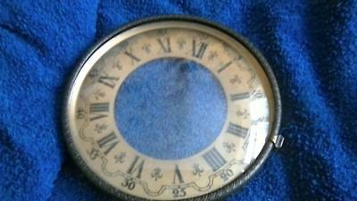 clock bezel, glass chapter ring. pin on parts only