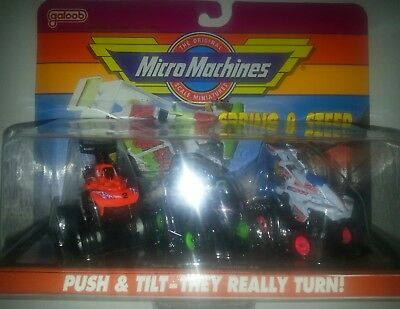 Micro Machines Spring and Steer 1991Collection #4 New Galoob Rare!