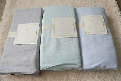 Pottery Barn Kids Belgian flax linen crib skirt new choose one original $79