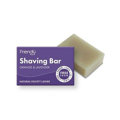 Friendly Soap Natural Shaving Soap Orange and Lavender 95g