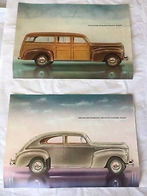 Vintage 1940 Plymouth Advertising Material