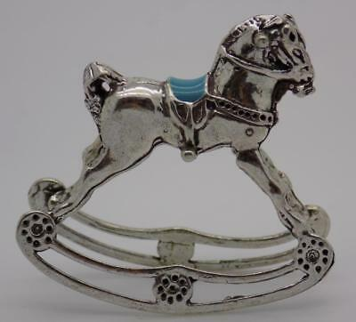 Vintage Solid Silver Italian Made Rocking Horse Miniature, Figurine, Stamped