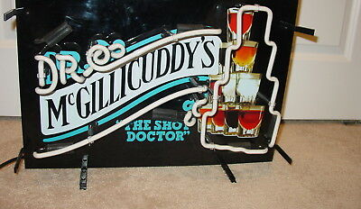 Dr Mcgillicuddy's The Shot Glass  Doctor Neon Lighted Bar Sign Whiskey Schnapps