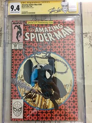 Amazing Spiderman 300 Cgc 9.4 Signed Stan Lee, Venom first appearance NM