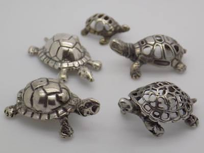 28g/1-oz. Vintage Solid Silver Italian Made JOB LOT Turtles Figurine, Miniature