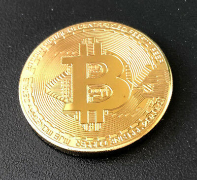 NEW Bitcoin GoldPlated Physical Commemorative Bitcoin In Protective Acrylic Case