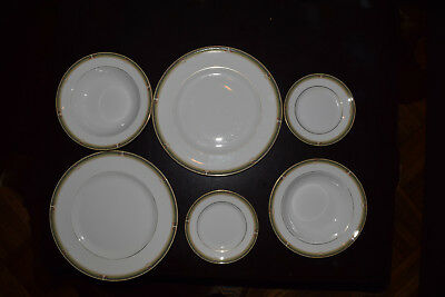 Wedgwood Oberon Lot - 2 each Dinner, Bread Plate, Soup Bowl - 6 total pieces!