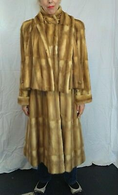 Giancarlo Ripa Stone Marten Sable Fur Cape Coat One of a Kind Italy
