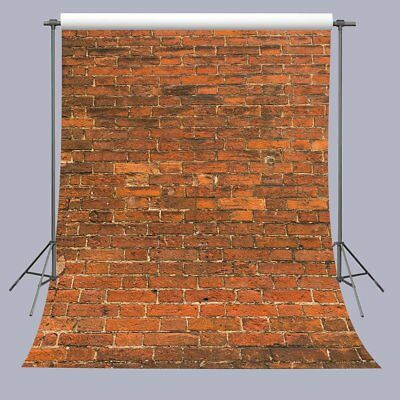 FUERMOR 5X7FT Red Brick Wall Photography Backdrop Customized Photo Background