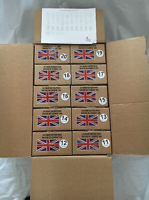 British MRE - Ration Pack Army Combat Rations PD 06/2017 - B (exp. min. 06/2020)