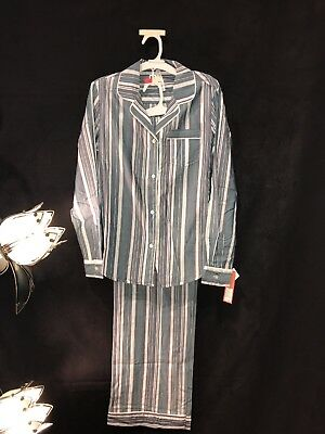 Womens Two Pc. Pajama Outfit, Long Sleeve, Gilligan & Omally, NWT, Striped, S-2X