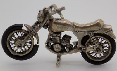 Vintage Solid Silver Italian Made Motorcycle Miniature, Figurine, Stamped