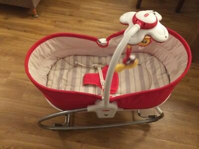 Tiny Love 3-in-1 Rocker Napper (rot) Baby Wippe Schaukel