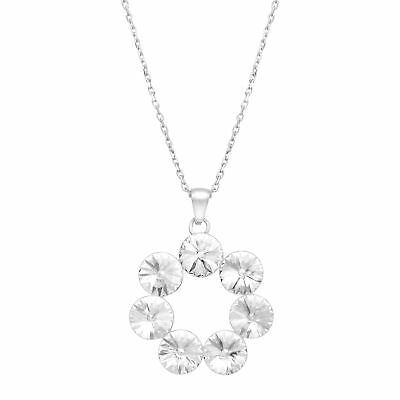 Crystaluxe Wreath Pendant with Swarovski Crystals in Sterling Silver