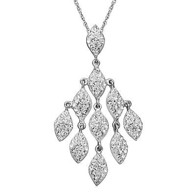 Crystaluxe Drop Pendant with Swarovski Crystals in Sterling Silver