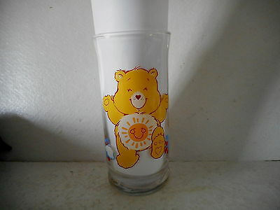 1983 American Greeting Pizza Hut Funshine Care Bear Character Drinking Glass