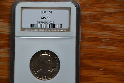 1980 P Susan B. Anthony $1 NGC MS 65