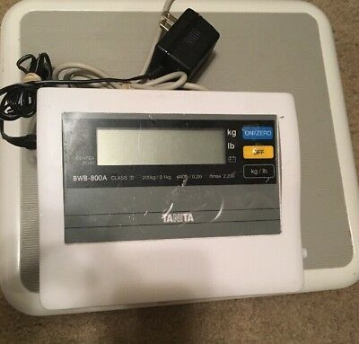 TANITA BWB-800A Digital Scale w/ Power Supply