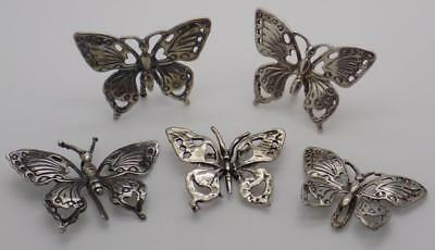 Vintage Solid Silver Italian Made JOB LOT Butterflies, Figurines, Stamped*