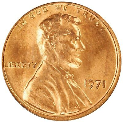1971 Lincoln Cent- Doubled Die Obverse FS-101 DDO-001 ANACS MS 63 RED