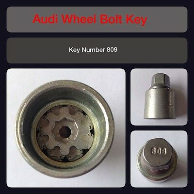 Genuine Audi Locking Wheel Bolt / Nut Key 809 17 Hex
