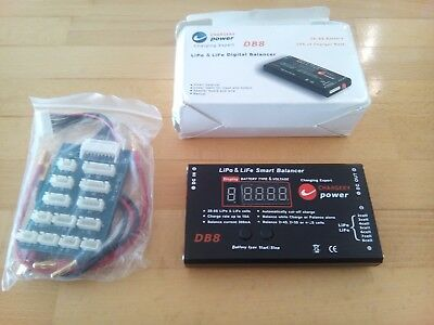 Chargery Power LIPO & LIFE Smart Balancer Charger DB8 2-8S 10A TOP OVP
