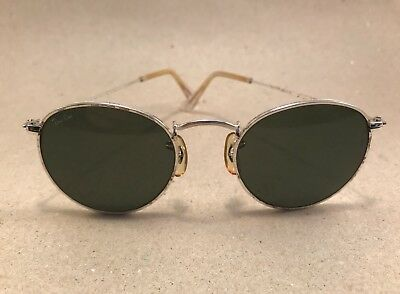 Vintage Ray Ban Classic Round silver G-15 Bausch Lomb B&L Sonnenbrille USA