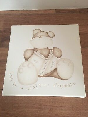 Mamas And Papas Once Upon a Time Crumble Bear Wall Canvas