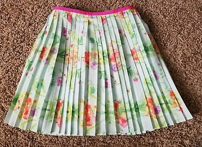 NWT Girl's Baker By Ted Baker Floral Print Pleated Skirt Band Size 7