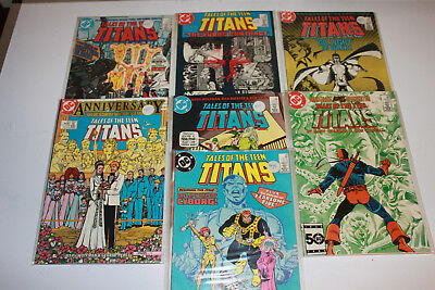 Tales of The Teen Titans #41,43,49,50,51,55,56 lot of 7 Great condition