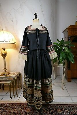 1900 Antique folk dress, traditional costume, garb, attire, Bulgaria, Albania