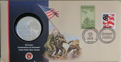2005-P Marine Corps. Commemorative Dollar - First Day Cover