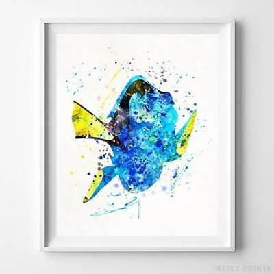 Dory Finding Nemo Wall Art Disney Watercolor Poster Home Decor Print UNFRAMED
