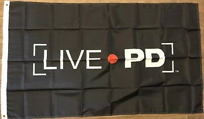LIVE PD 3x5 Flag LIVE 🔴PD BLACK TV Cops Police Show Inspired Sheriff Deputy 👮