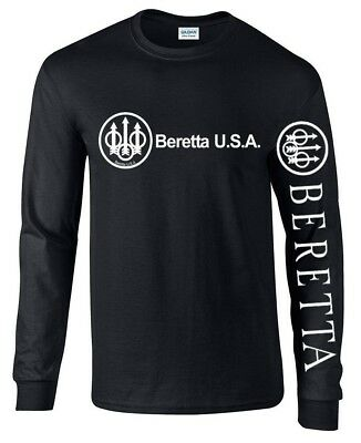 BERETTA Long Sleeve T - Shirt ASSAULT RIFLE 2nd AMENDMENT BRAND PRO GUN AR-15