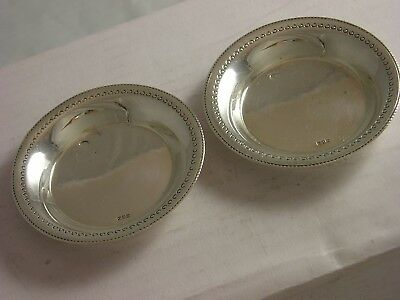 INDIAN PAIR 1900 Silver Calcutta Small Dishes 36 grams great condition