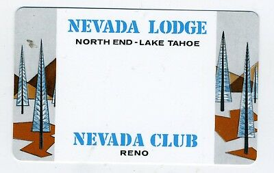 Rare eBay offering - old check cashing card from Nevada Lodge and Nevada Club