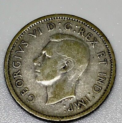 Canada 1943 10 cents Silver George VI Canadian Dime