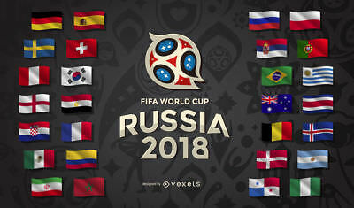 Fifa 2018 Russia World Cup 32 Flags Pack & Fabric Bunting