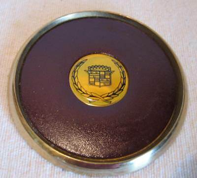 Cadillac Brass and Leather Drink Coaster