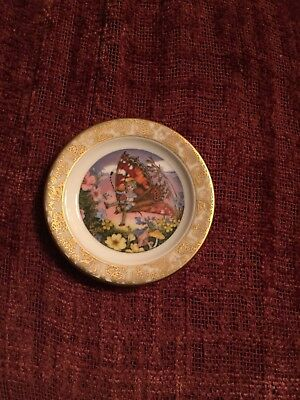 2 1/2 Franklin porcelain Mini Plate The History Of Tom Thumb